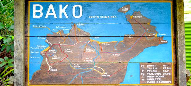 Bako NP Karte